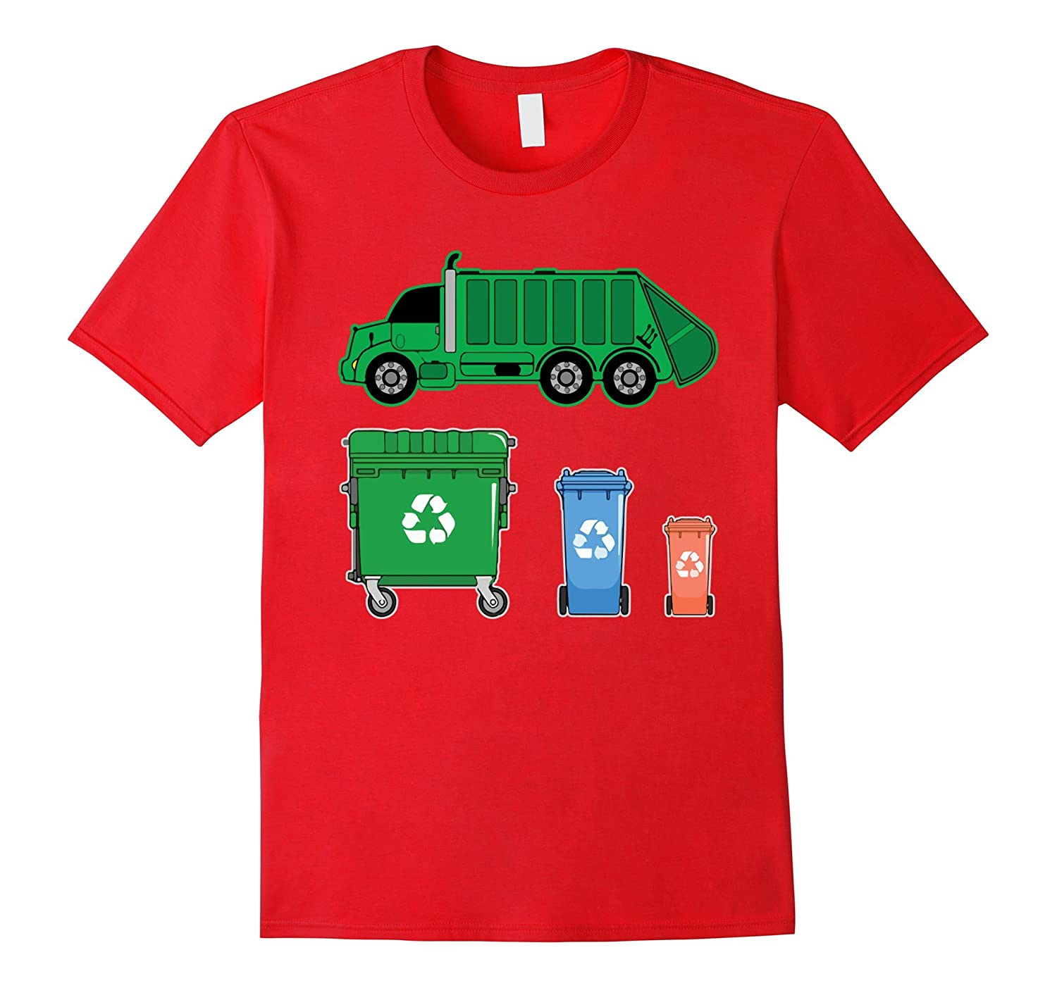 Garbage Truck with dumpster Trash truck Shirt for kid-CD