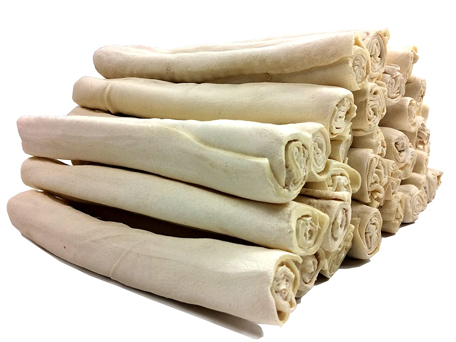 Rawhide Retriever Roll Bulk - 100% Natural Rawhide Roll Dog Treats