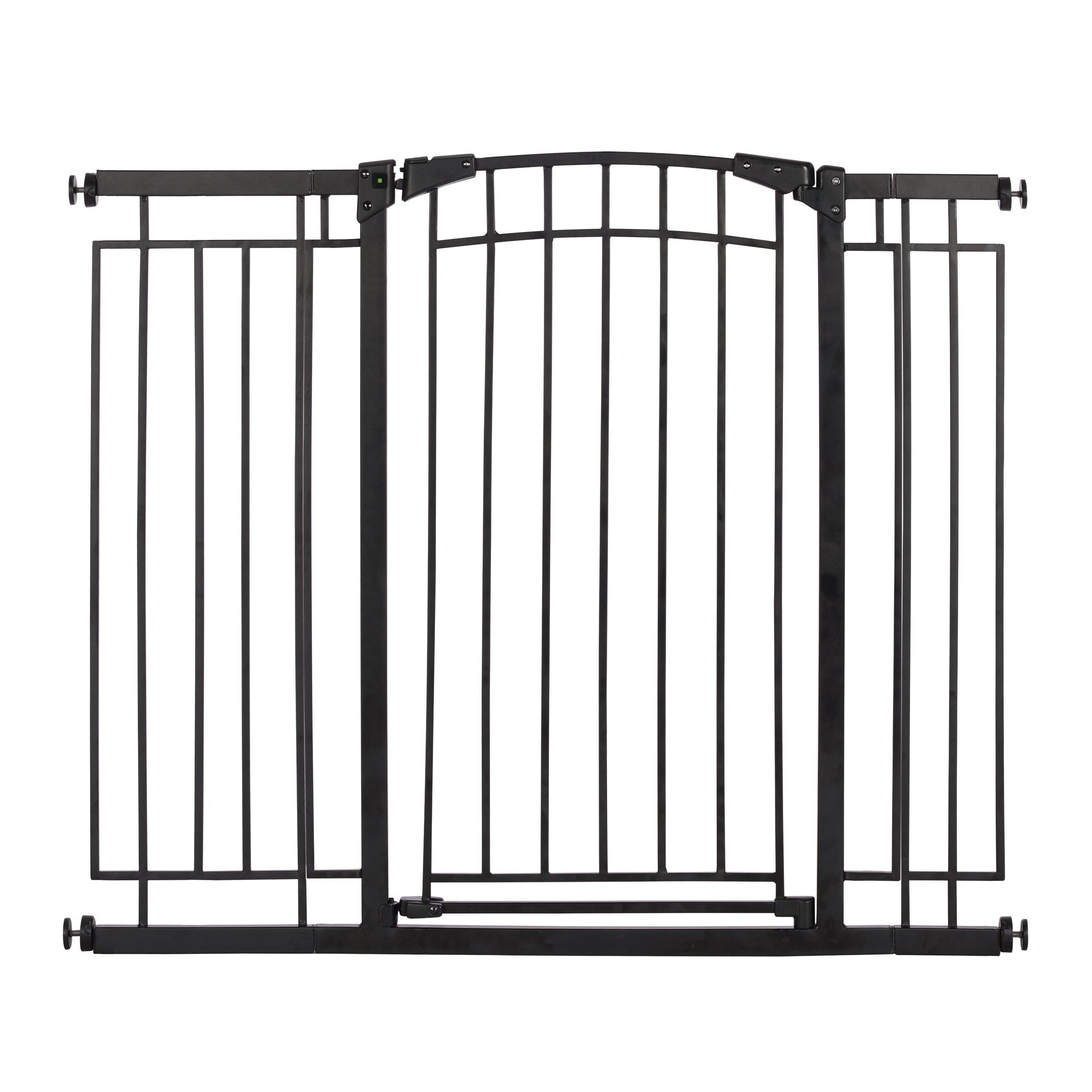 Evenflo Multi-Use Decor Tall Walk-Thru Gate, Black Metal by Evenflo