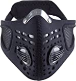 Respro RP00011  Sportsta Pollution Mask, Large, Black, Pack of 1