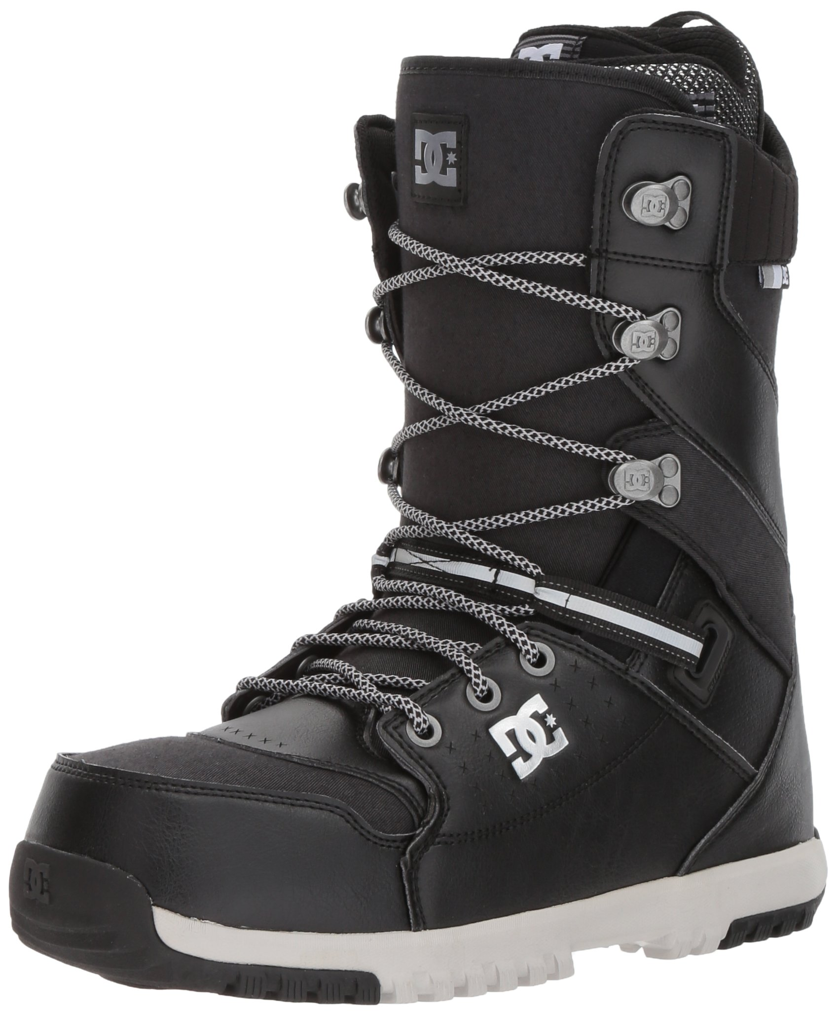 DC Men's Mutiny Lace Snowboard Boots, 10.5, Black by DC