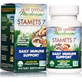 Host Defense, Stamets 7 Capsules, Daily Immune Support, Mushroom Supplement with Lion's Mane, Reishi, Vegan, Organic, 30 Caps