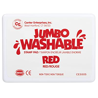 Center Enterprise CE5505 Jumbo Washable Stamp Pad, Red: Toys & Games