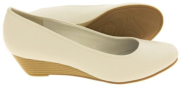 Marco Tozzi Mujer Taupe Zapatos Bajos Del Efecto De La Madera De Los Talones De La Cuña EU 40 NYdG4vLx
