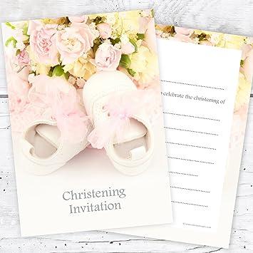 Olivia Samuel Christening Invitations