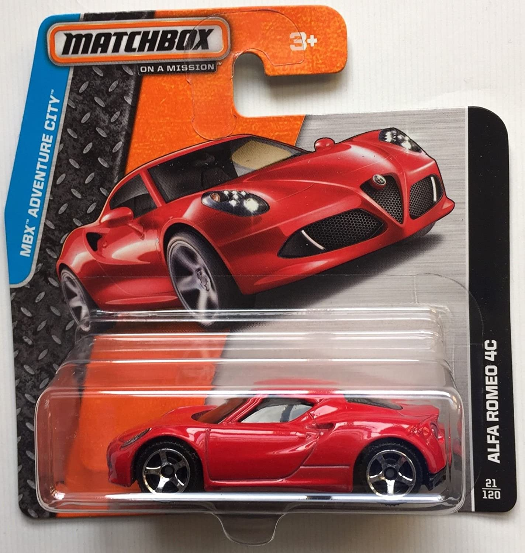 Matchbox MBX Adventure City Alfa Romeo 4C 21/120 Short Card