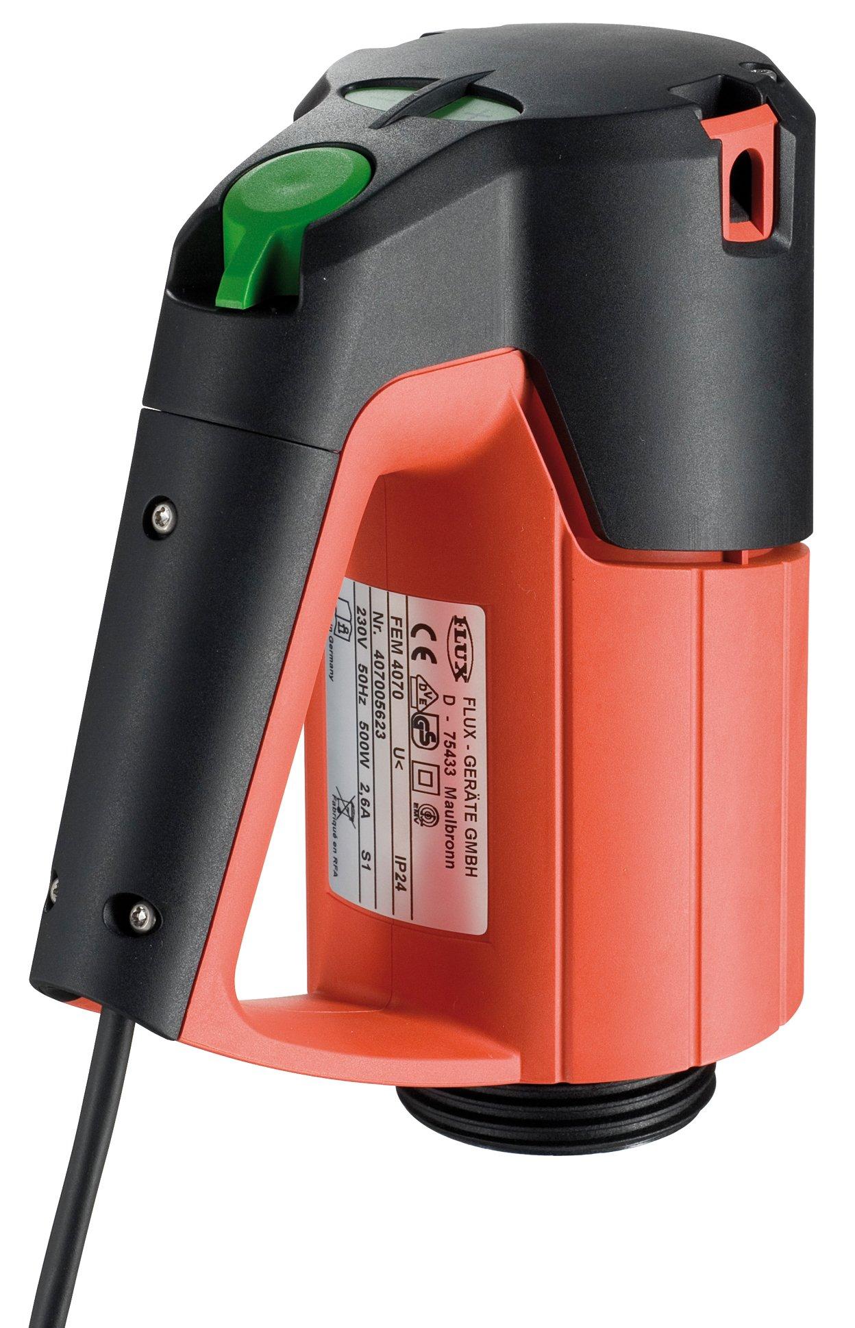 FLUX 407 01 023 Commutator Motor Type FEM 4070, 500W, 230V, IP 24, 4 Speed Range, No-Volt Release