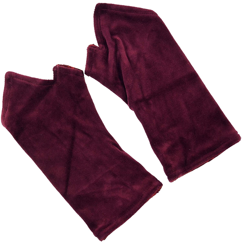 Baumwolle Handstulpen Alternative Bekleidung Guru-Shop Bestickte Handstulpen aus Samt Wendestulpen Herren//Damen Size:One Size Blau