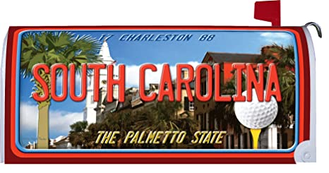 South Carolina - Great Escapes - Mailbox Makover Cover - Vinyl witn Magnetic Strips for Steel
