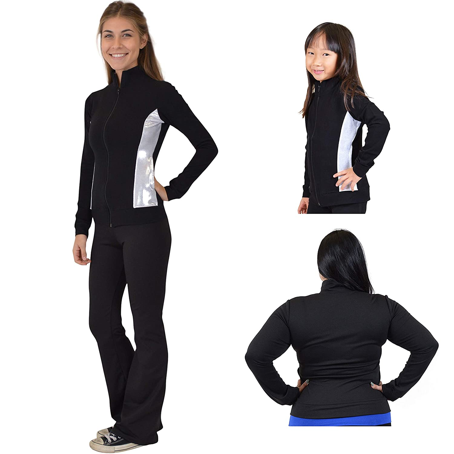 Stretch is Comfort Girl's and Women's Dance Cheer Cotton Warm Up Jacket J3032CHCTJCKT-$P