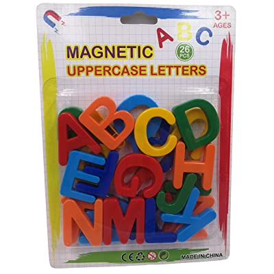Seatrend Magnetic Plastic Alphabet Uppercase Letters for Toddlers Kids in Fun Educational,Fridge Magnets Toy Set Preschool Learning Spelling Counting 26 PCS: Toys & Games