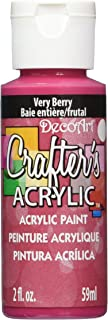 product image for DecoArt DCA121-3 Crafter's Acrylic Paint, 2-Ounce, Very Berry