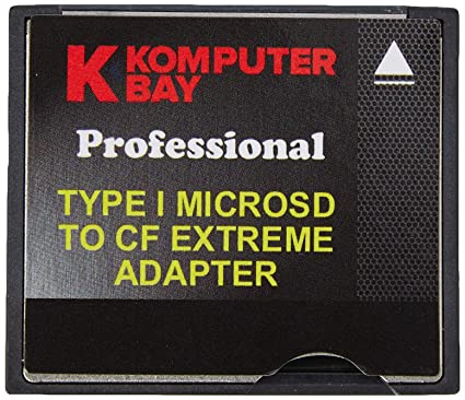Komputerbay - Adaptador de alta velocidad de 2 tarjetas MicroSD a CompactFlash Tipo I