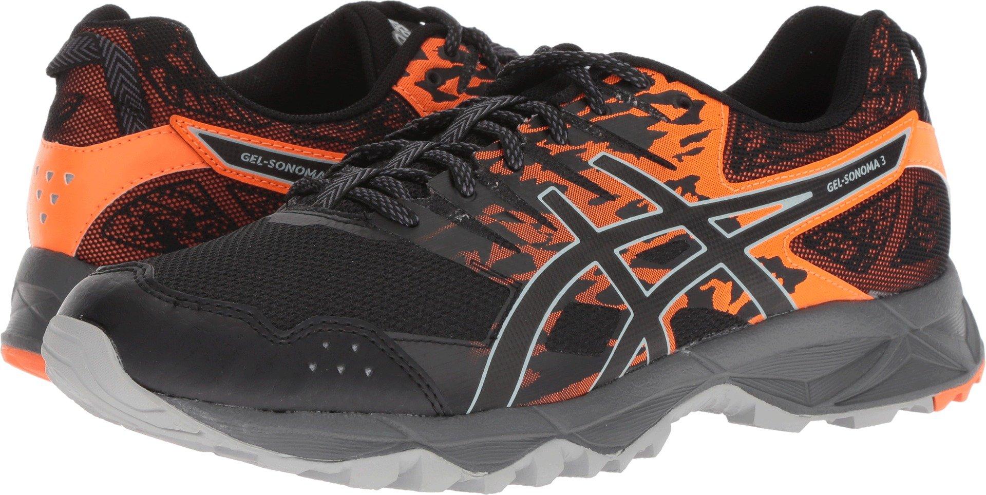 edebb49e ASICS T724N Men's Gel-Sonoma 3 Running Shoe, Black/Shocking Orange - 11.5  D(M) US