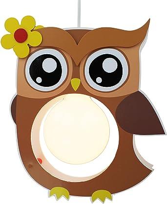 Elobra Kinderlampe Deckenleuchte Hängeleuchte Eule, Kinderzimmer ...