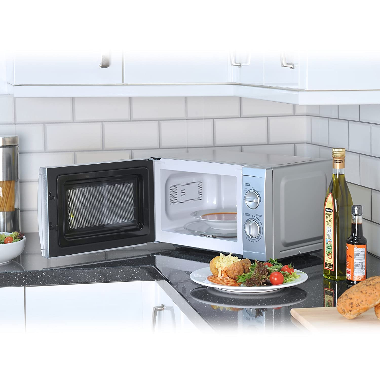 Igenix IG2807 Solo Manual Microwave, 5 Power Levels and Defrost Function, 35 Minute Timer, 700 W, 20 Litre, White