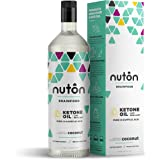 Pure C8 MCT Oil - 33.8 oz Ketone Oil by Nuton | Better Than Blends for Keto Diet | Caprylic Acid has Most efficient and Clean Ketone Production