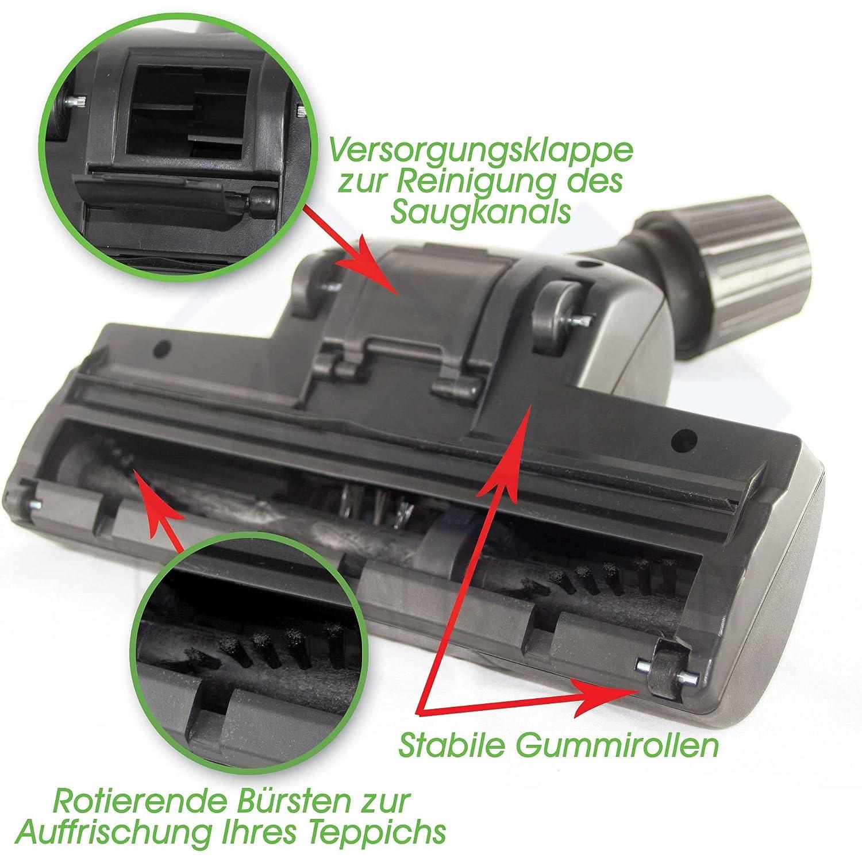 Turbodüse Universal 30-37mm mit rotierenden Bürsten geeign für Siemens VS06G2410