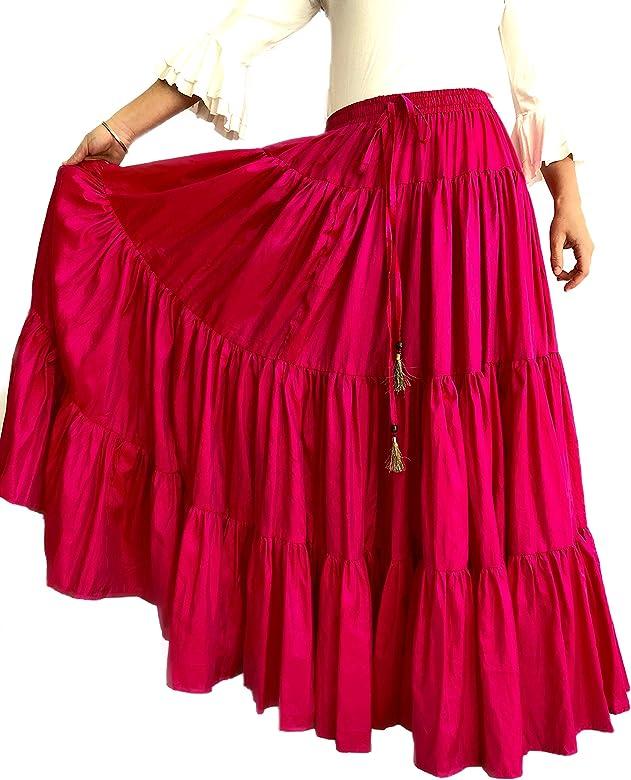 Mercedes Henares Falda para Mujer Modelo Sevilla Color Rosa, Ideal ...