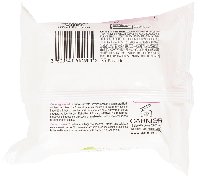 Garnier - Toallitas desmaquillantes Super Comfort para pieles secas o sensibles, 25 unidades: Amazon.es: Belleza