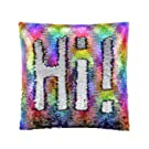 ANKIT Mermaid Pillow Reversible Sequin Pillow That Changes Color - Holographic Rainbow Silver Flip Sequin Pillow