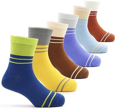 Amazon.com: Boys Cotton Crew Socks Kids Athletic Socks 6 Pack: Clothing