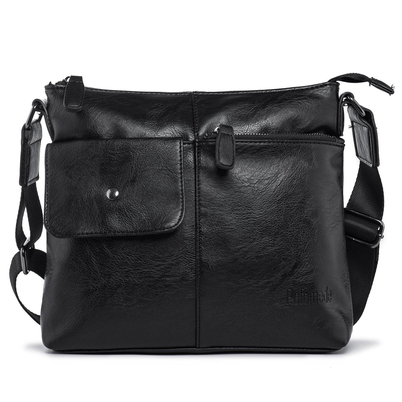 70%OFF Shoulder Bag Casual Top-Zip Cross-body Bag Messenger Bags Soft PU  leather Business Briefcase Vintage Travel Bags for Men Work Bag  Multifunctional EDC ... c3463c1c58