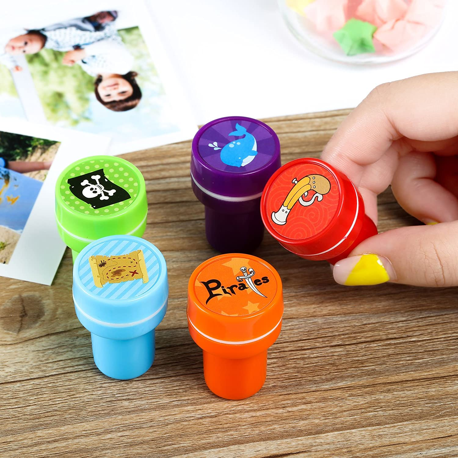 Kesoto Number /& Alphabet Stamps for Kids Party Favor Teacher Stamps Self Inking Stamps for Kids Birthday Gift