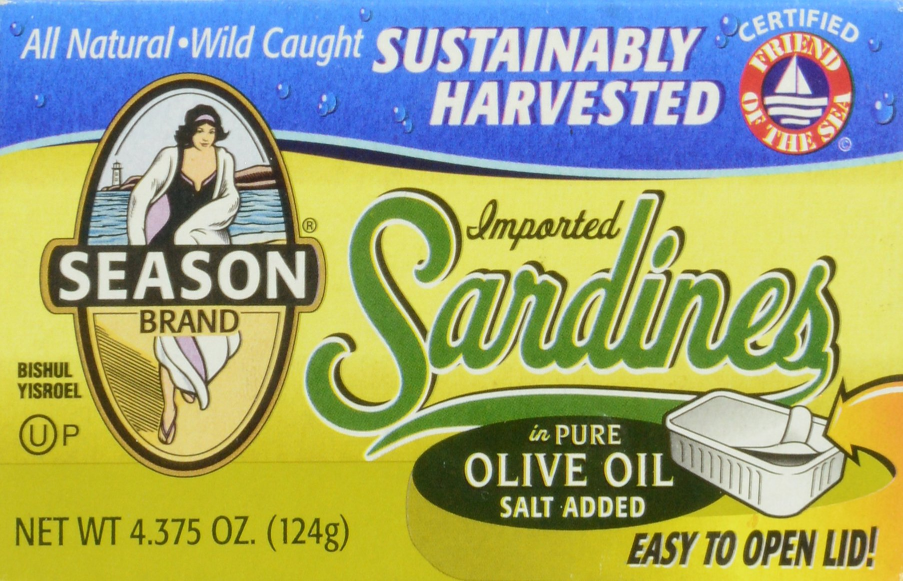 Season Sardines in Pure Olive Oil, 4.375 Ounce by Season 1