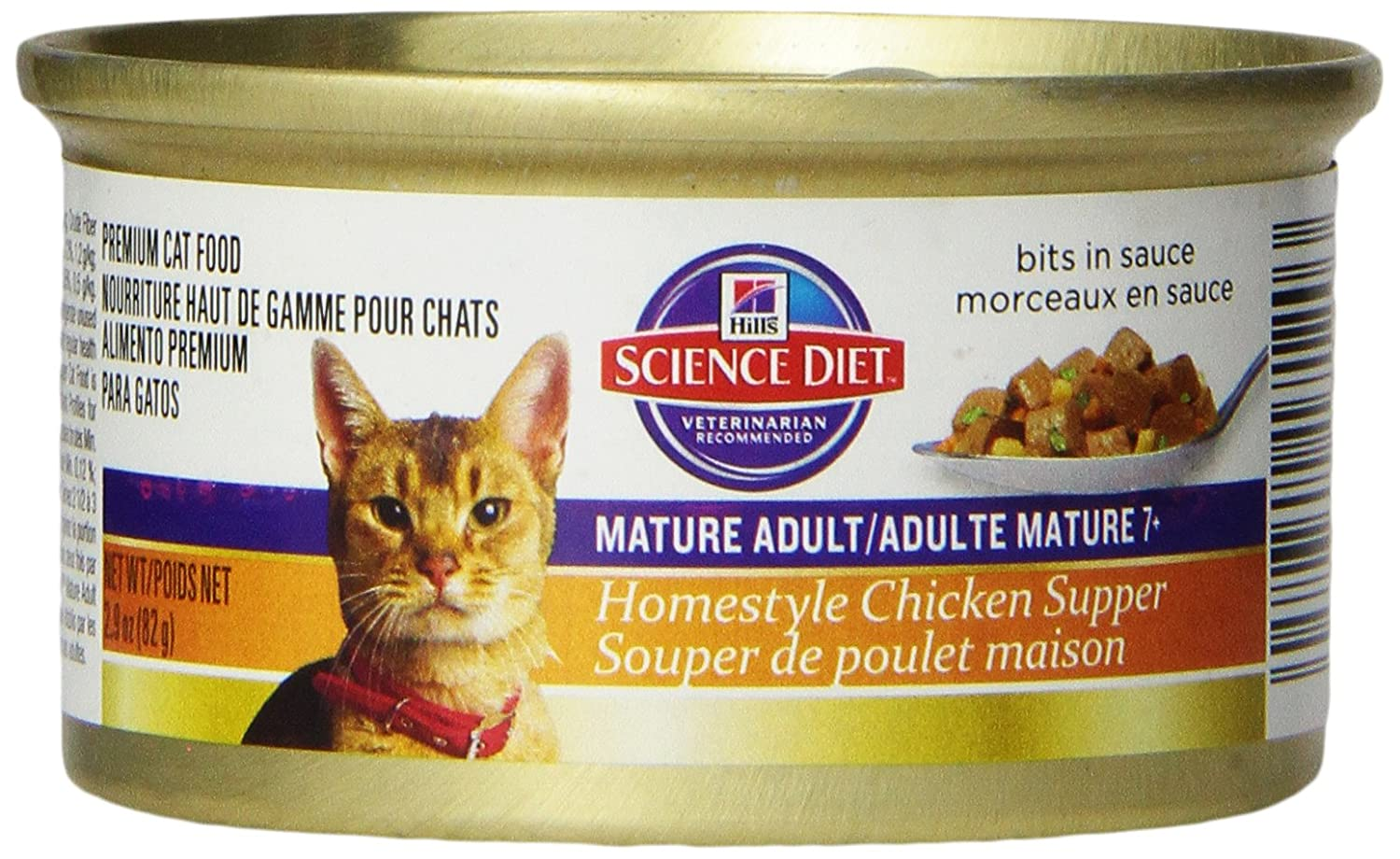 Amazon.com : HillS Science Diet Homestyle Chicken Supper For Mature Adult Cats, 2.9 Oz, 24-Pack : Canned Wet Pet Food : Pet Supplies