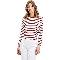 DeFacto Çizgili Uzun Kollu T-Shirt Tişört Kadın