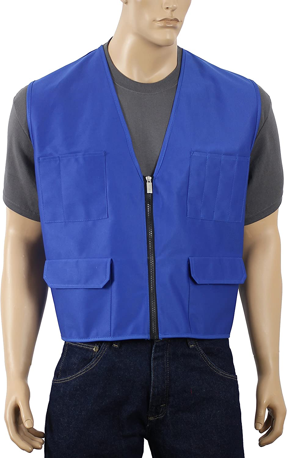 Lime, Medium Safety Depot Multiple Colors Safety Vest with Pockets No Stripe Reflective Tape Simple Economy 8048B