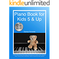 Piano Book for Kids 5 & Up - Beginner Level: Learn to Play Famous Piano Songs, Easy Pieces & Fun Music, Piano Technique… book cover