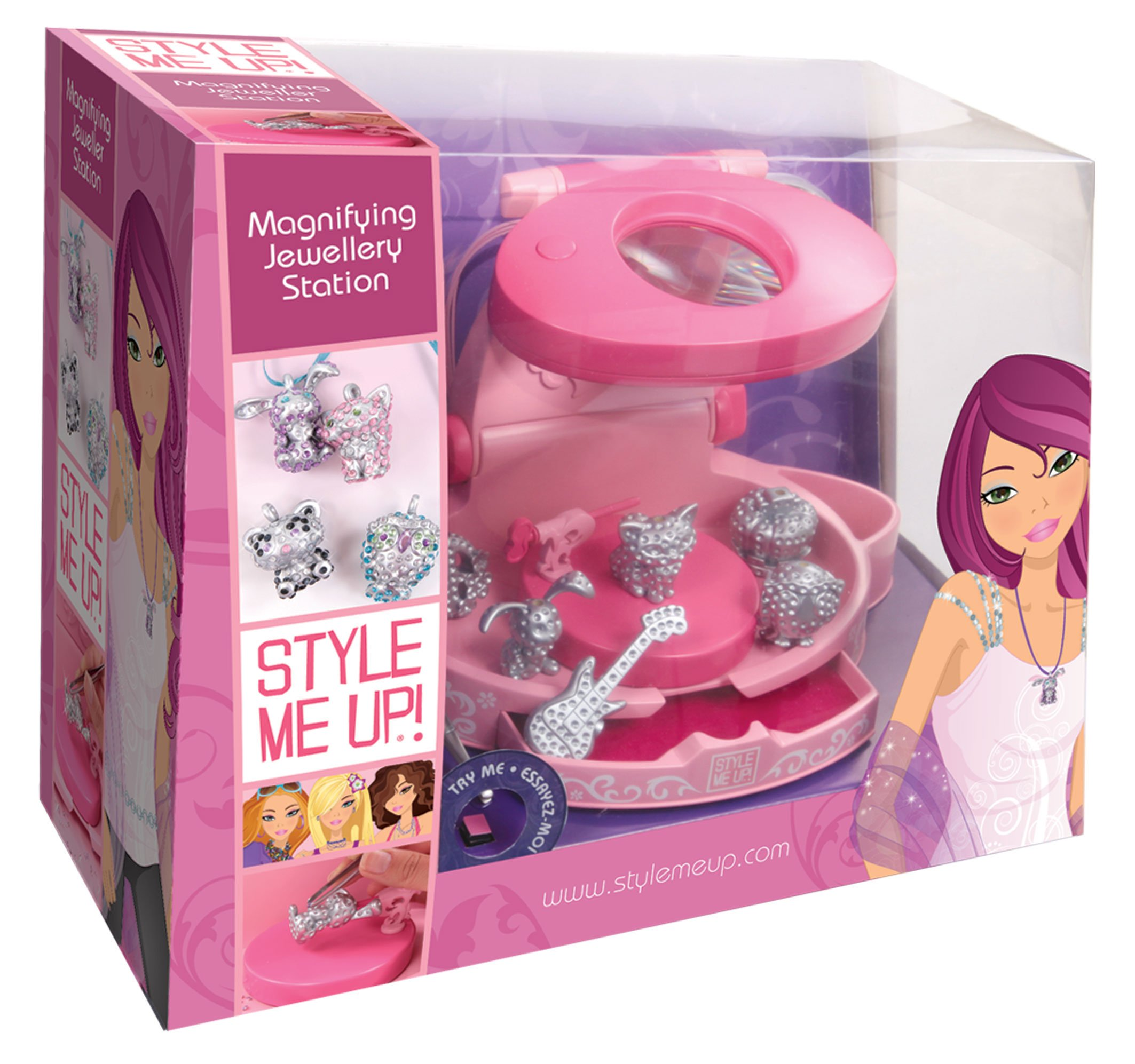 Style Me Up Magnifying Jeweller Station with Light