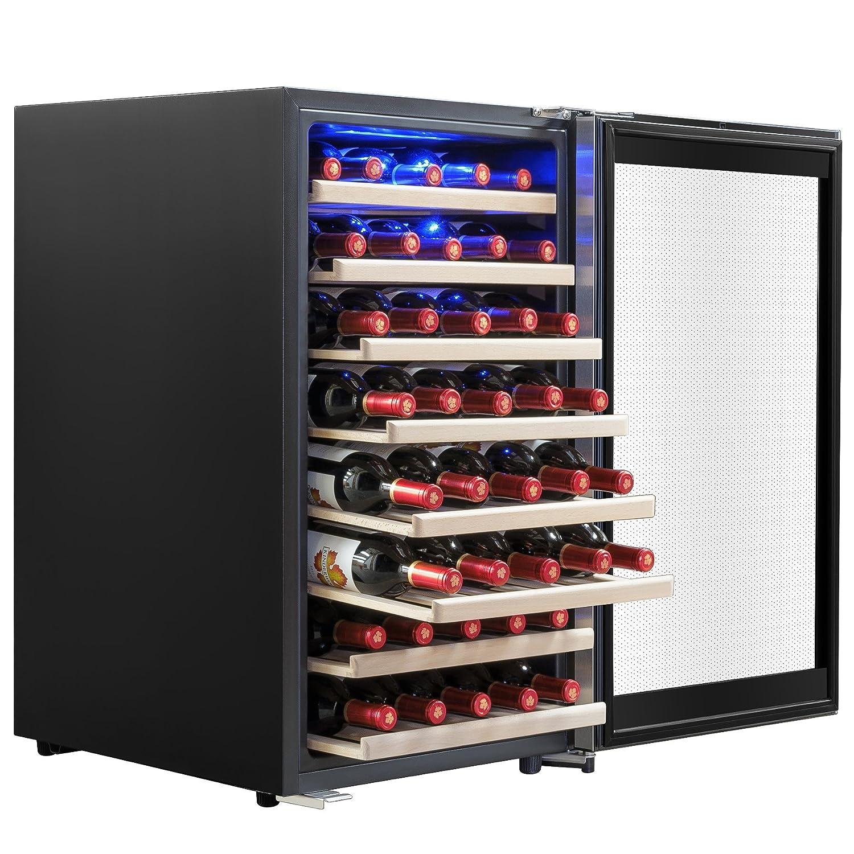 AKDY 52 Bottles Single Zone Compressor Function Freestanding Refrigerator Wine Cooler Cellar
