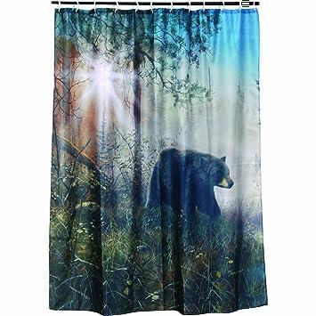 Amazon.com: Bear Shower Curtain: Home & Kitchen
