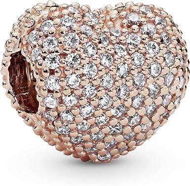 Pandora Jewelry Pave Open My Heart Cubic Zirconia Charm in Pandora Rose