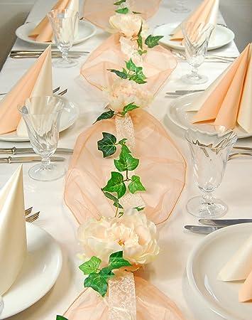 Fibula Style Komplettset Apricot Roses Grosse S Tischdekoration