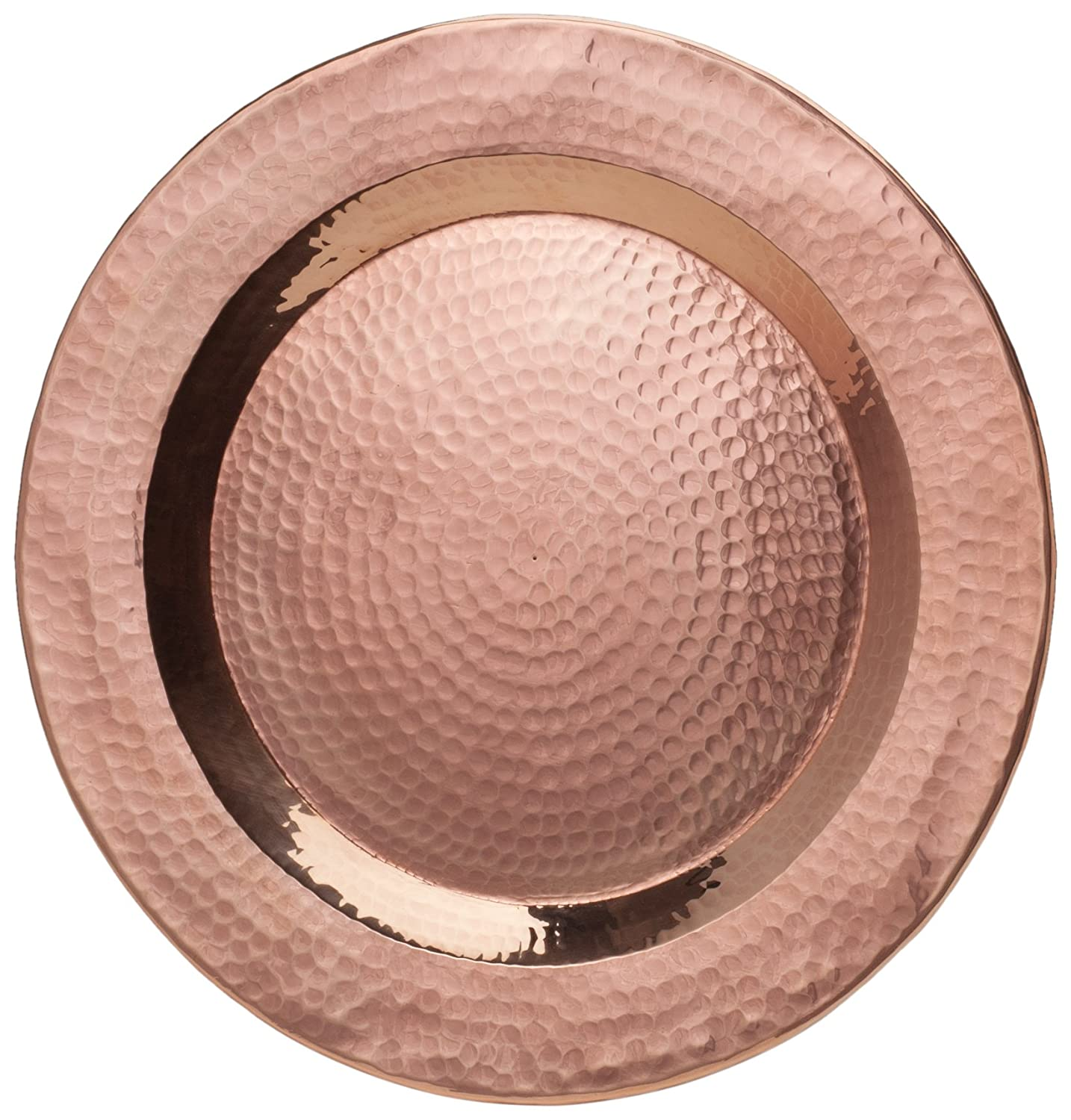 Amazon.com Sertodo Copper Hand Hammered 100% Pure Copper 12-inch Round Charger Plate Centerpiece Display Plate Copper Platter Kitchen \u0026 Dining  sc 1 st  Amazon.com & Amazon.com: Sertodo Copper Hand Hammered 100% Pure Copper 12-inch ...