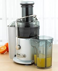 Breville Juice Fountain Plus Electric Juicer (Black & Silver)