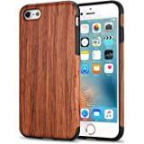 TENDLIN Coque iPhone 6s Bois et Souple TPU Silicone Hybrid Slim Etui pour iPhone 6 et iPhone 6s (Bois de santal rouge)