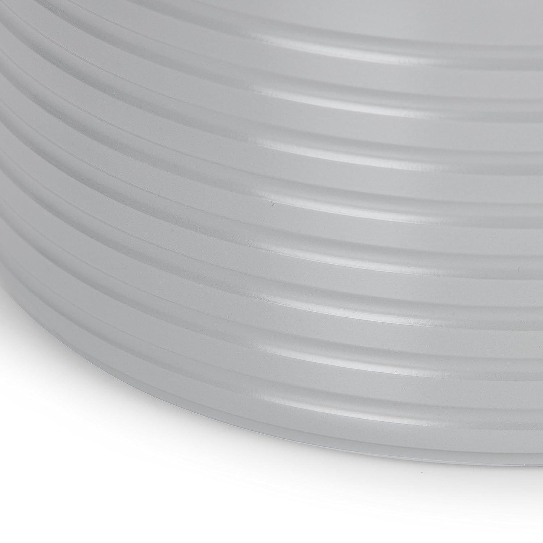 27.00 x 42.00 x 15 cm Swan Juego de 3 cazos Retro con Revestimiento Antiadherente de cer/ámica Gris Aluminio