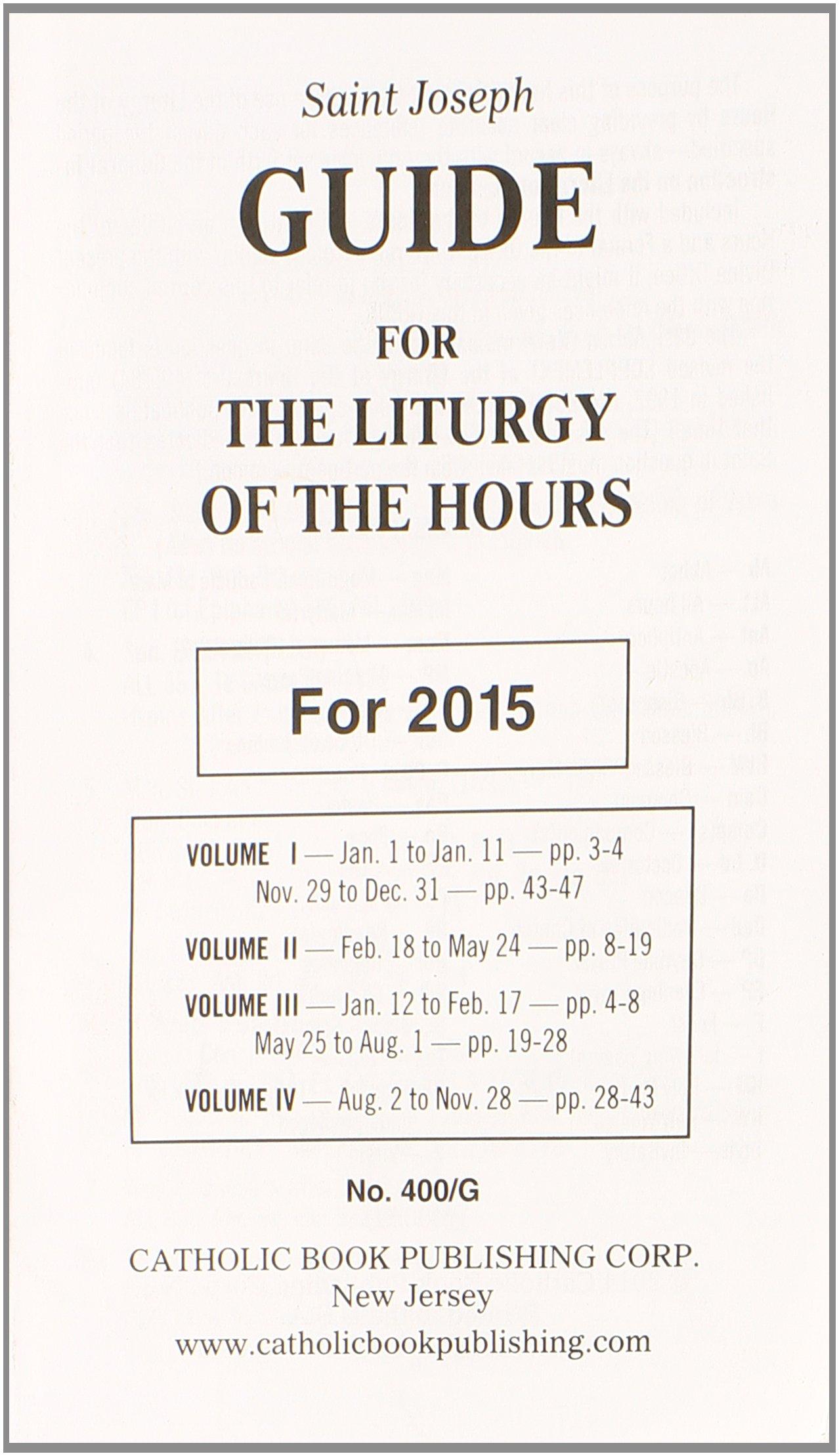 saint joseph guide for the liturgy of the hours catholic book rh amazon ca The Liturgy of Hours Calendar Priest Praying the Liturgy of Hours