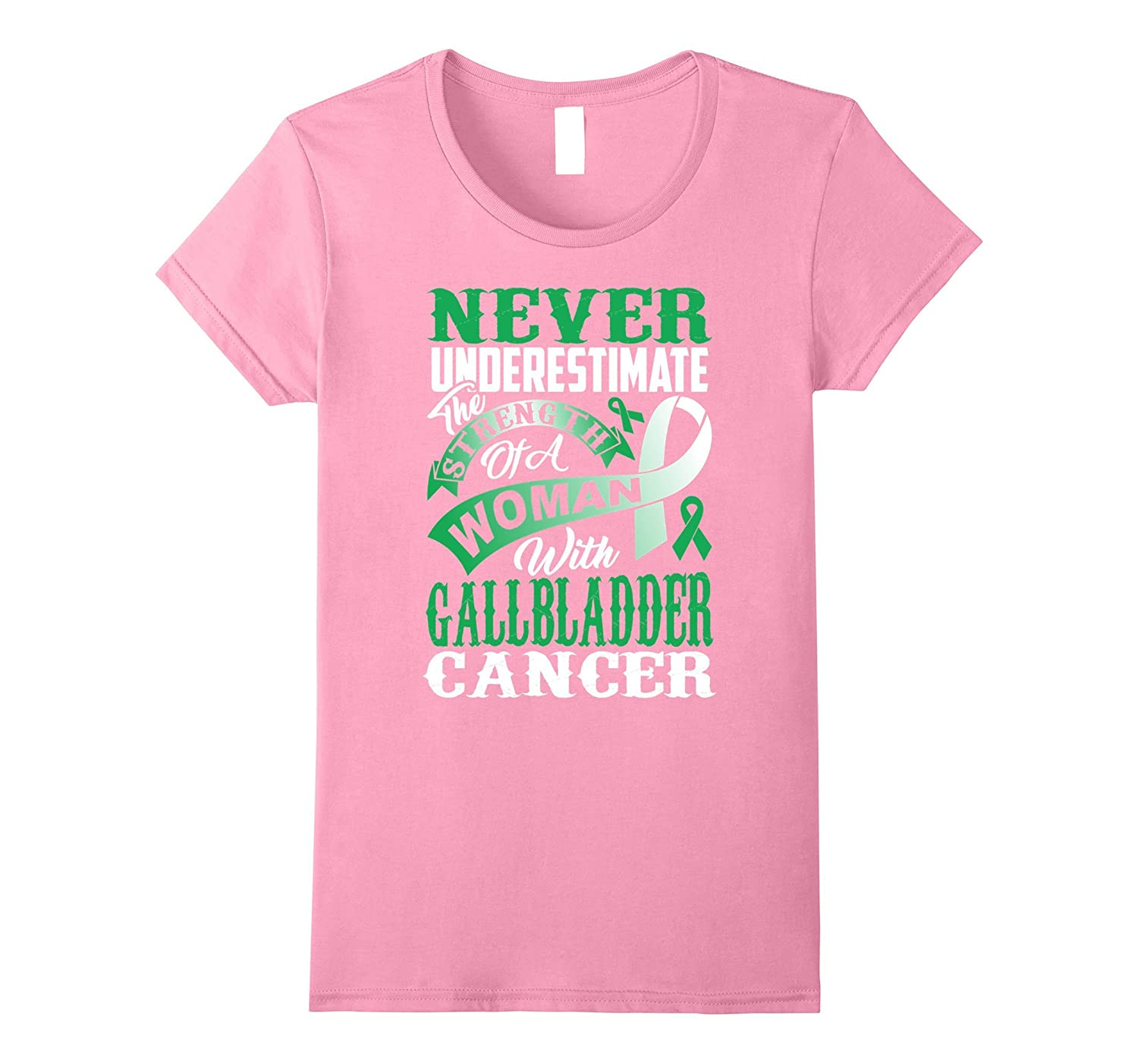 Womens Never underestimate the women with Gallbladder Cancer TShirt-TH