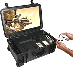 Case Club Waterproof Xbox One X/S Portable Gaming Station with Built-in 24