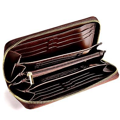 434f717df369 Sincere 長財布 メンズ カード 18枚収納 大きく開く 内外ツートンカラー 財布 さいふ な
