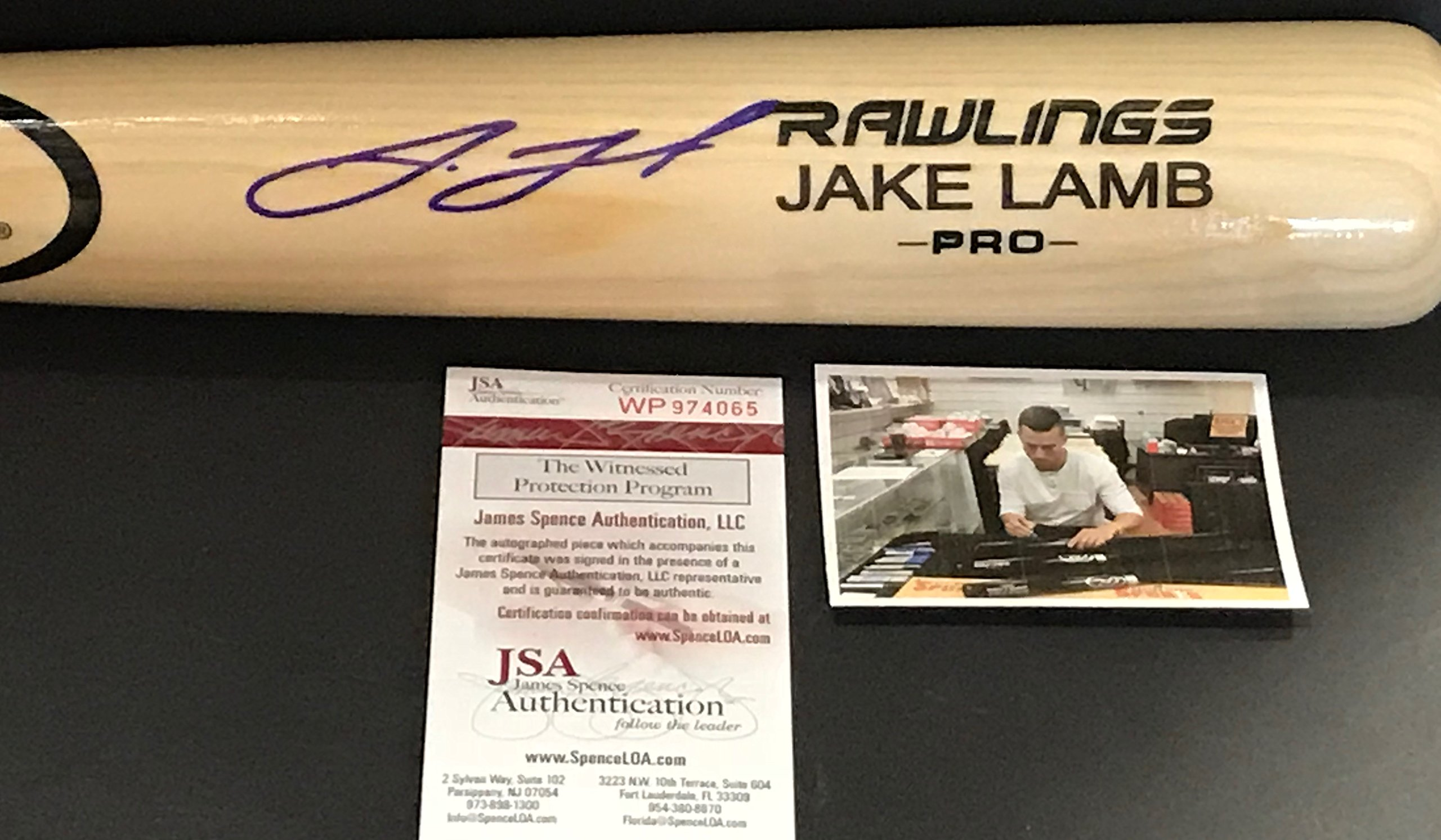 Jake Lamb Arizona Diamondbacks Autographed Signed Blonde Baseball Bat JSA WITNESS COA