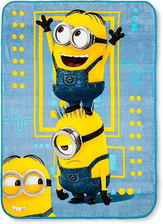EXTRA LARGE Despicable Me Minions Super Soft Fleece Blanket Kids Boys Bed Throw