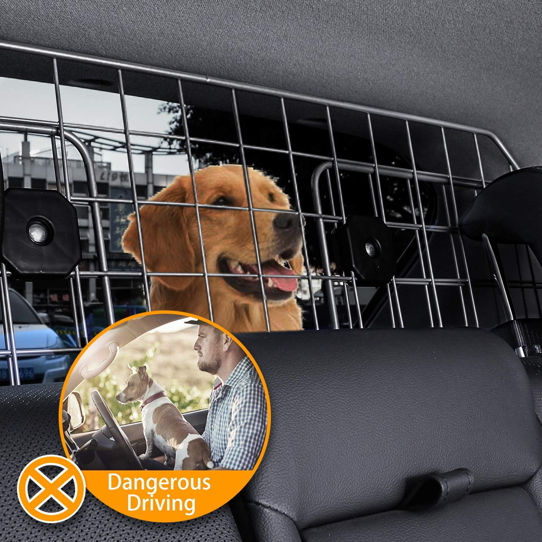 Sailnovo Dog Barrier for Car SUV Vehicles, Adjustable Pet Barrier Wire Mesh Dog Car Barrier for Cargo Area - Universal Fit by Sailnovo (Image #6)