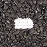 """Natural Black Decorative Pebbles Small, total weight approximately 5 pounds, average size 0.5"""" - 0.75"""""""